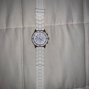 Rose Gold/White Silicone Aeropostale Watch